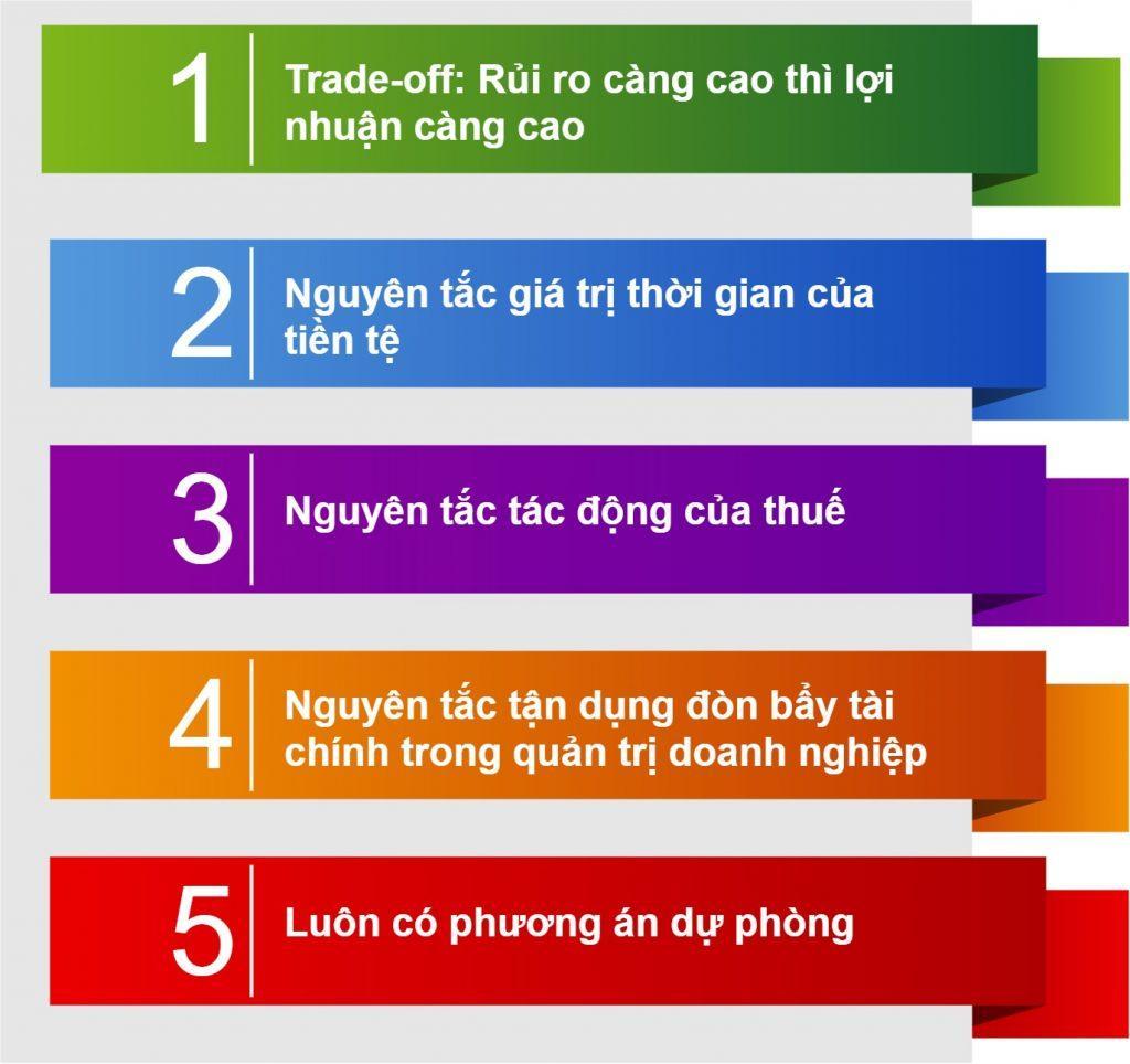 5 nguyên tắc trong quản lý tài chính doanh nghiệp