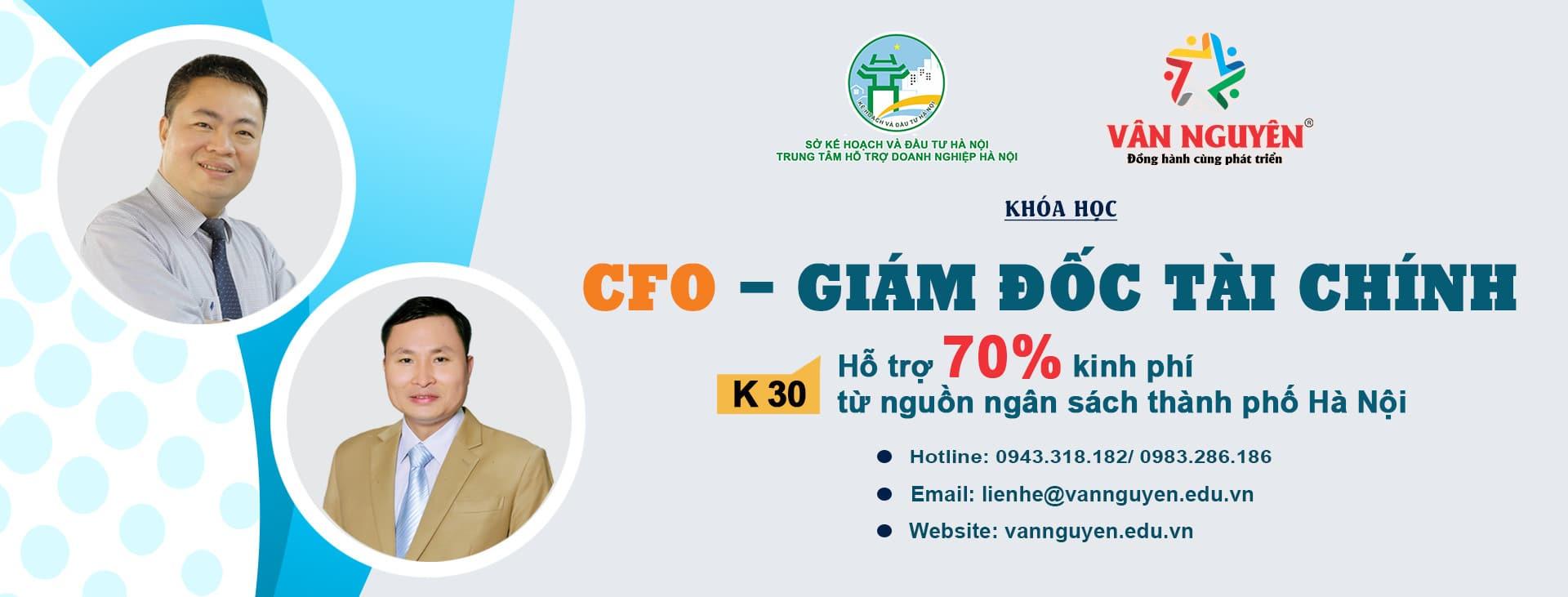 Khóa học CFO – Giám đốc tài chính chuyên nghiệp K30