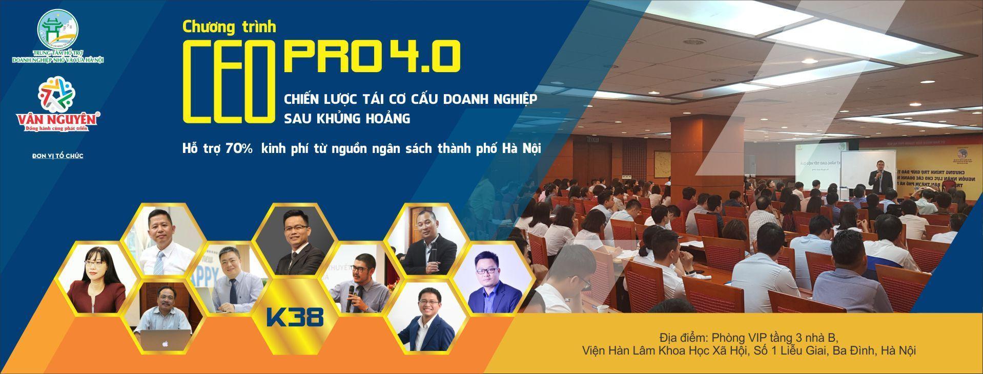 CEO PRO 4.0 (K38) – Chiến lược tái cơ cấu của doanh nghiệp sau khủng hoảng