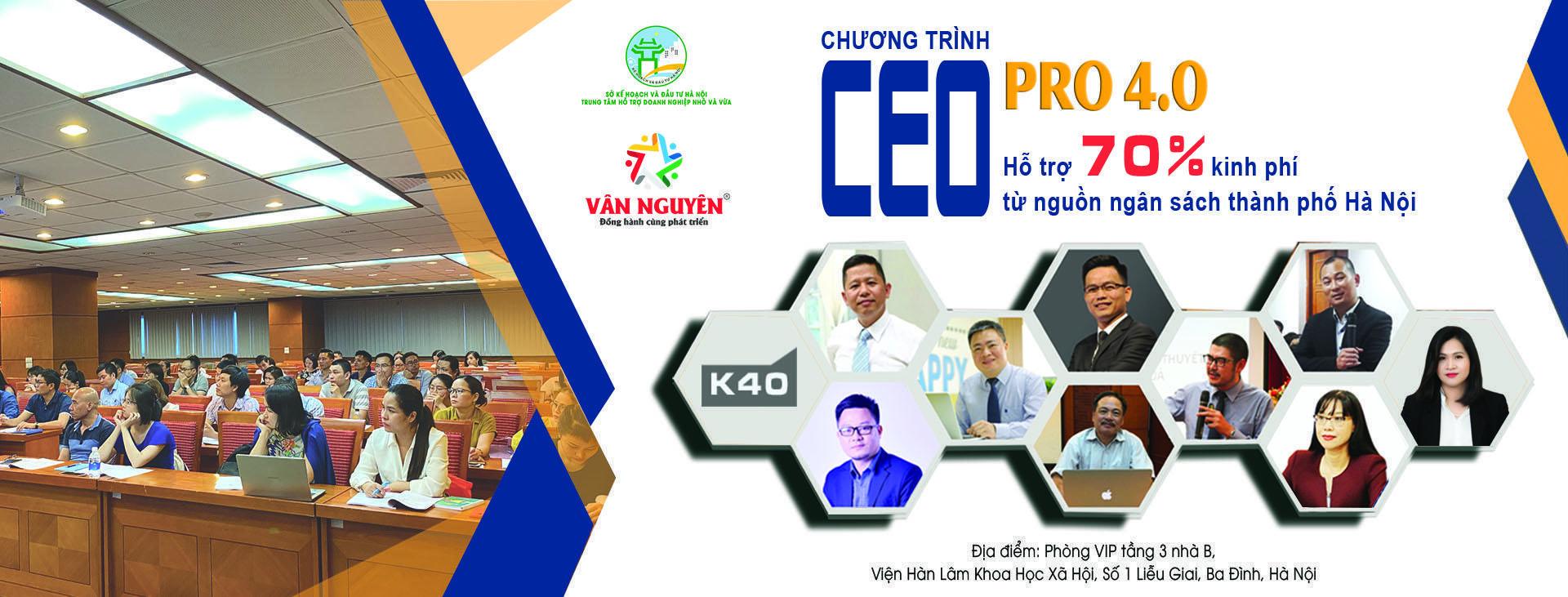 CEO PRO (K40) – Chiến lược tái cơ cấu của doanh nghiệp sau khủng hoảng