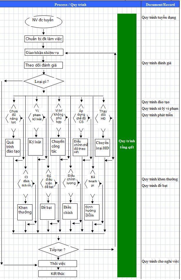 Tổng thể quy trình quản trị nhân sự